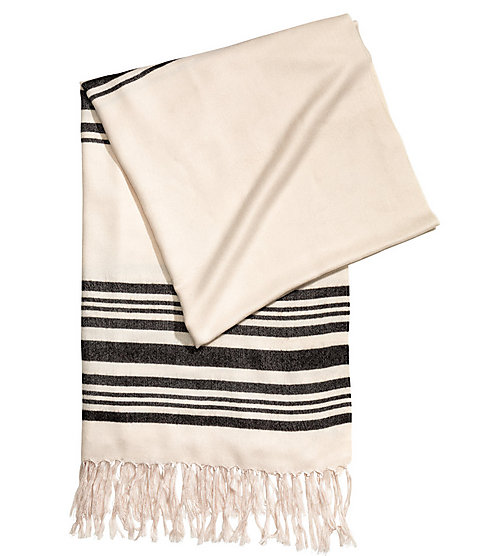 No, it's not a tallit. It's an $18 scarf (Photo: H&M website)