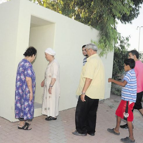 מיגונית ציבורית - שומרים על התושבים בטוחים (צילום: הרצל יוסף)