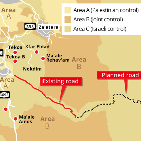 The planned road