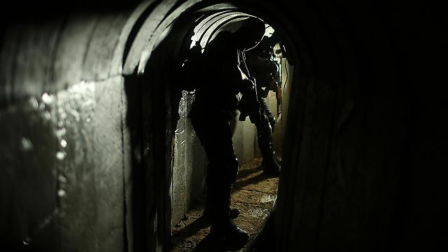 Izz ad-Din al-Qassam Brigades fighter in one of Hamas's tunnels (Photo: Reuters)