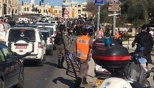 Scene of the Jerusalem attack ()
