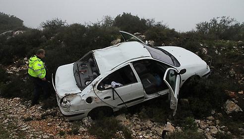 """התאונה הקטלנית בצפון (צילום: זהר שחר, """"ידיעות אחרונות"""")"""