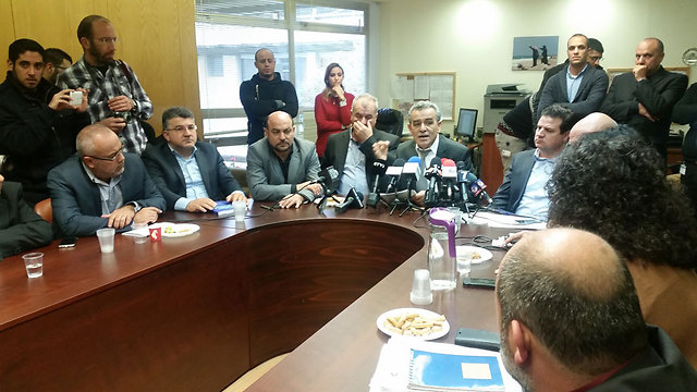 Joint List faction meeting (Photo: Eli Mendelbaum)