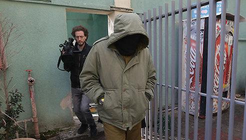 הקצין הנאשם הבוקר בבית הדין הצבאי ביפו (צילום: ירון ברנר)