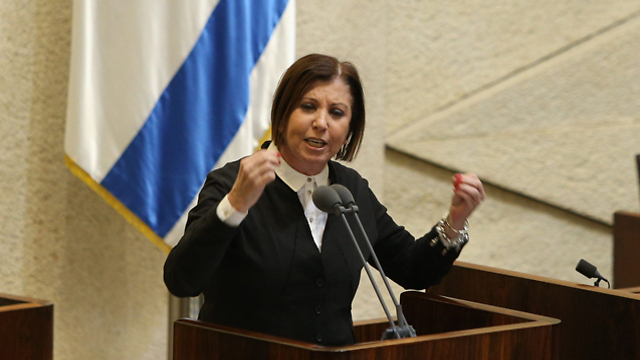 Galon addressing the Knesset (Photo: Amit Shabi)