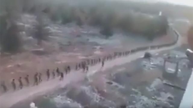 """הכורדים ליד אעזאז. """"אם הם ישתלטו, לא נחזור"""" ()"""