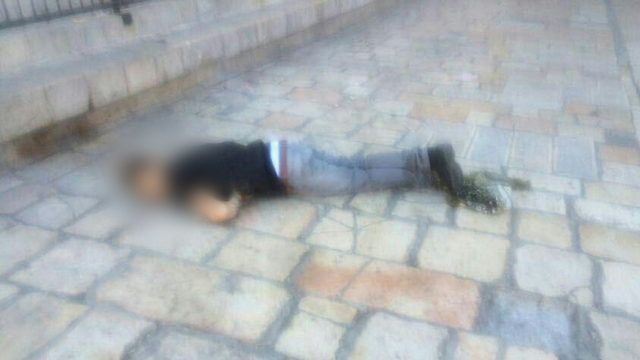 The attacker after he was neutralized