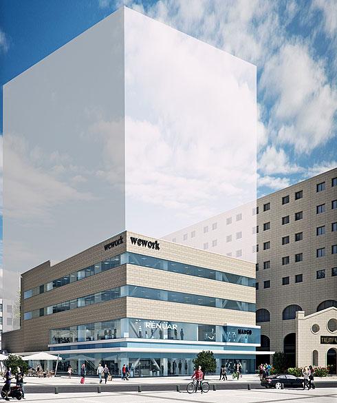 לבניין מבקשים להוסיף 8 קומות של מגורים, כששירותים שונים יחלקו הדיירים ביניהם (הדמיה: הילה שמר)