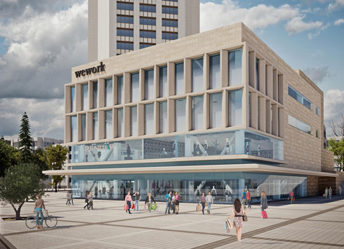הדמית הבניין לאחר השיפוץ: פתוח לחיי הרחוב, עם חזיתות פעילות (הדמיה: 3dvision)