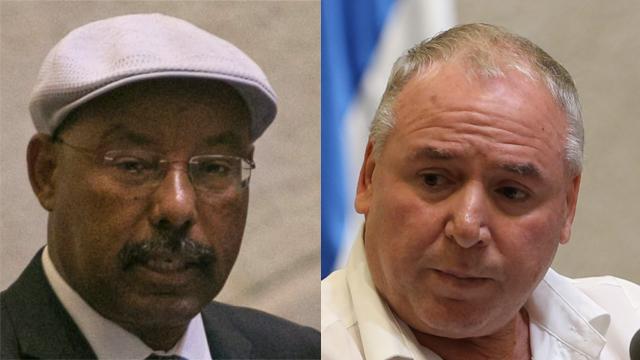 Likud MKs Avraham Neguise, left, and David Amsalem (Photo: Ohad Zwigenberg, Alex Kolomoisky)