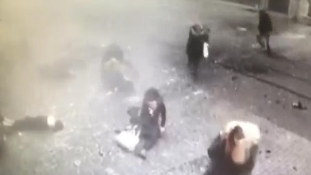 Security camera still shows moment after the detonation