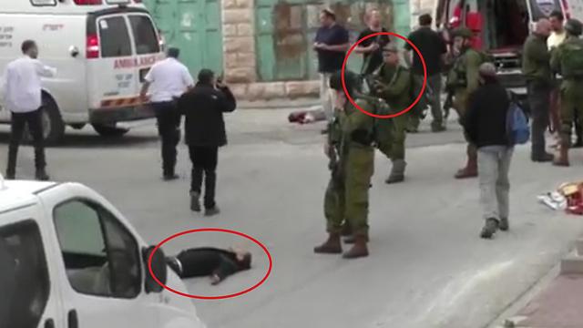 מתוך הסרטון: רגע הירי במחבל (צילום: עימאד אבו שמסייה)