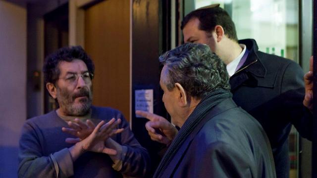 Olivier arguing with Guy and Dagan (Photo: Assaf Matarasso)