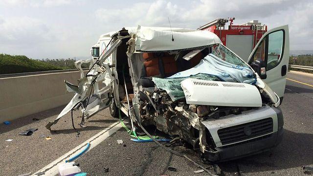 תאונה קטלנית בכביש בחודש מרס (צילום: כבאות צפון)