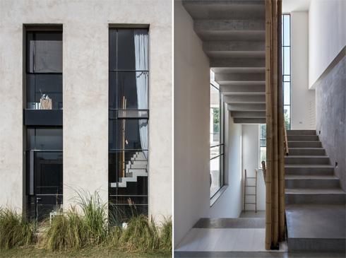 חלון ארוך מאיר את גרם המדרגות (צילום: עמית גושר)