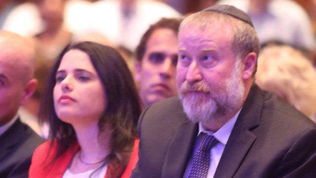 Mandelblit withh Justice Minister Ayelet Shaked (Photo: Motti Kimchi)
