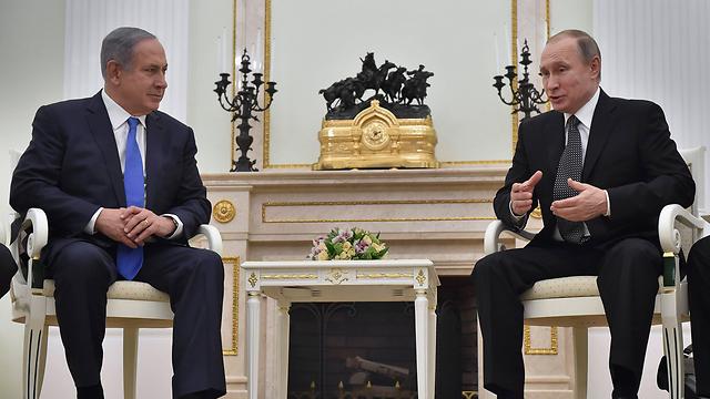 Netanyahu and Putin meet in Moscow (Photo: EPA)