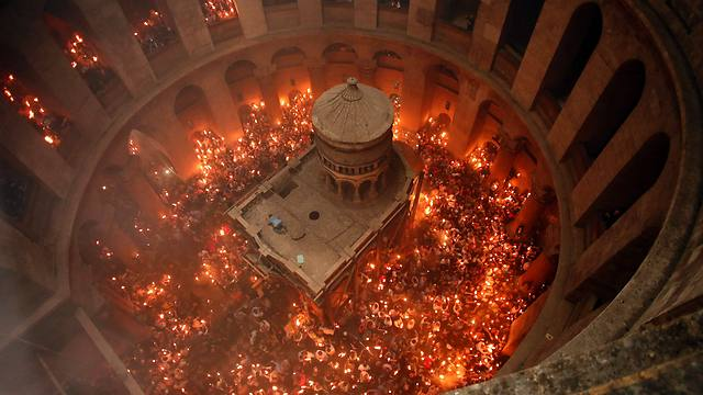 The Church of the Holy Sepulchre on Easter (Photo: AFP)
