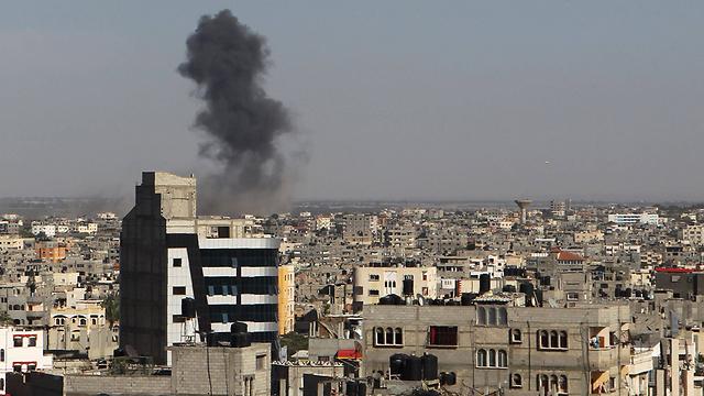 IAF attack on Thursday in Gaza (Photo: AFP) (Photo: AFP)