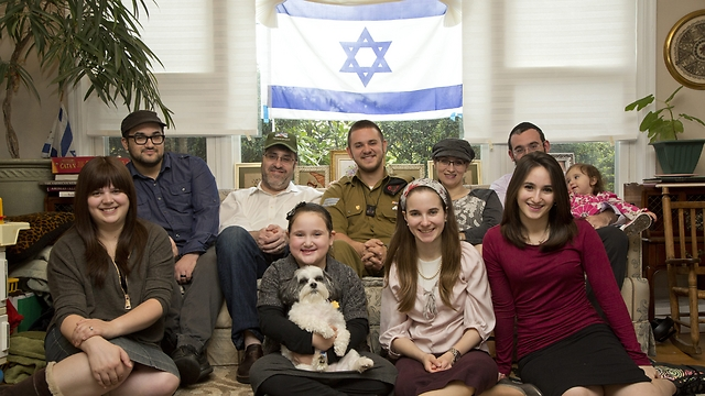 Yoni and his family (Photo: Nadav Newhouse)