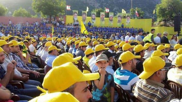 Hezbollah supporters in Lebanon