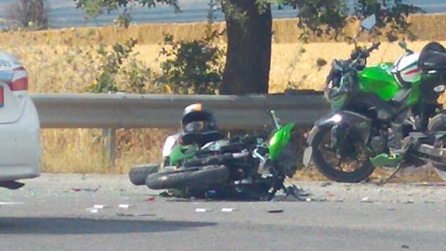 רוכב אופנוע נהרג בתאונה בחודש מאי האחרון (צילום: ברוך שמיר)