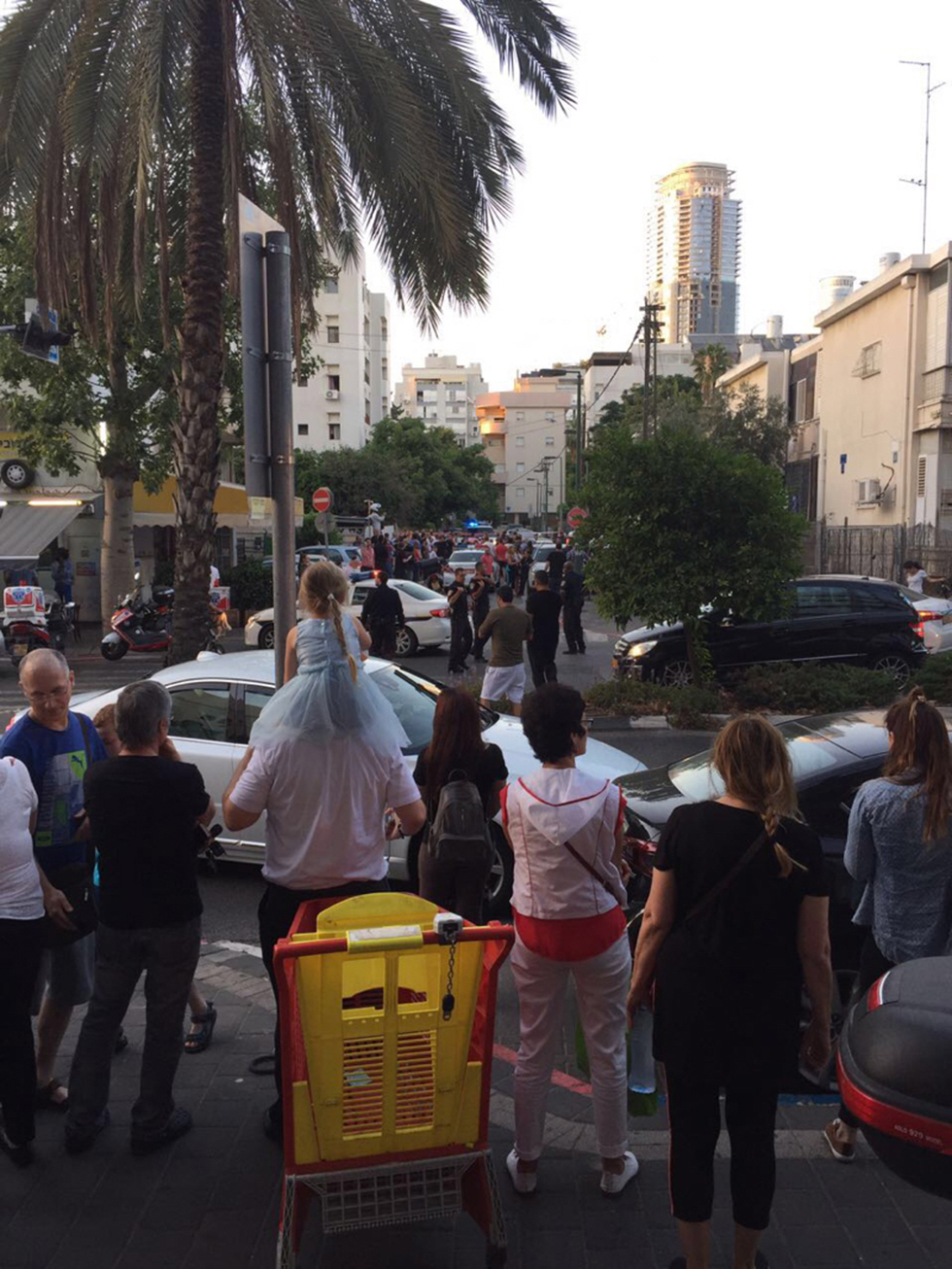 Area of the stabbing in Tel Aviv (Photo: Guy Mado)