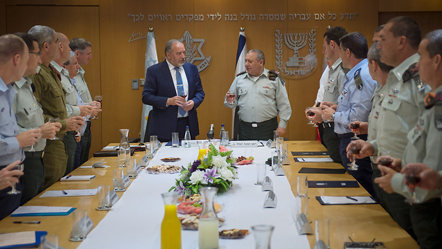 The IDF General Staff. No women since the departure of Maj. Gen. Barbivai. (Photo: IDF Spokesperson)