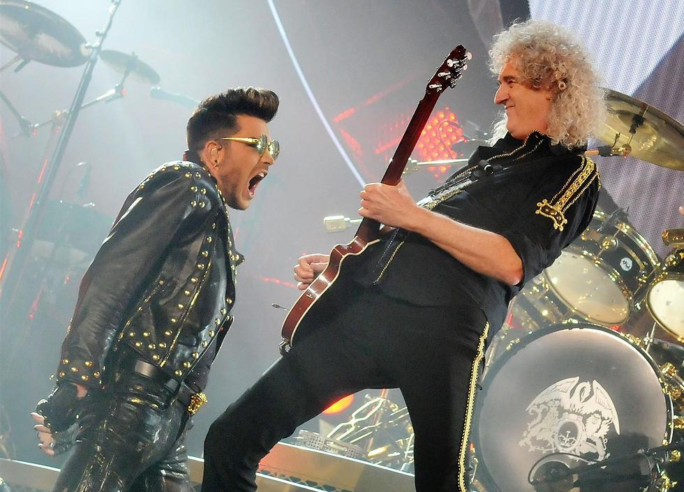 L-R: Adam Lambert and Brian May (Photo: Gettyimages)