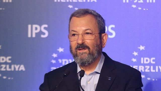 Ehud Barak speaking at the Herzliya Conference (Photo: Motti Kimchi)