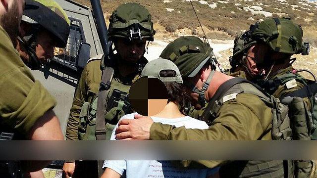 The injured adolescent (Photo: Hatzalah Yehuda/Shomron)