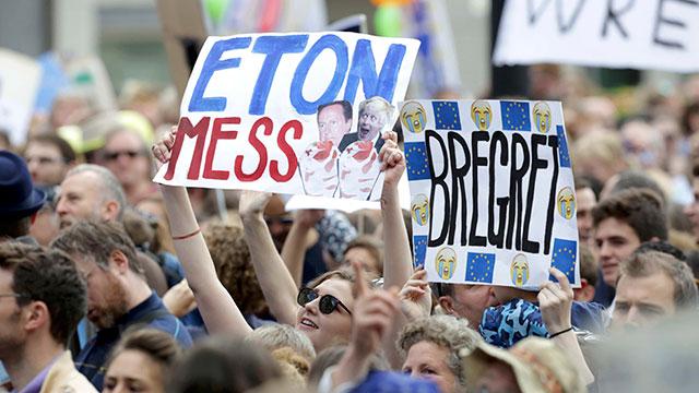 הפגנה בלונדון נגד הברקזיט (צילום: רויטרס)