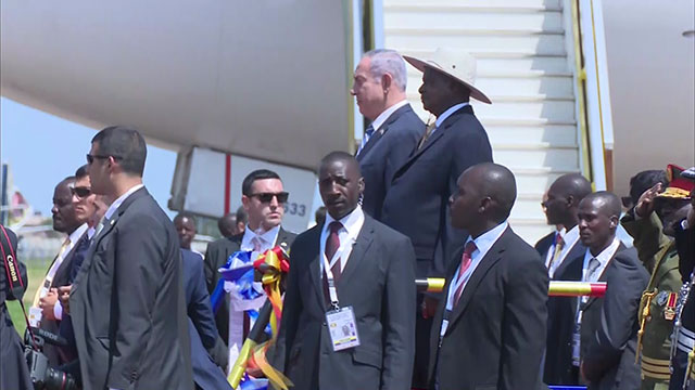 Netanyahu in Entebbe (Photo: RR Media)