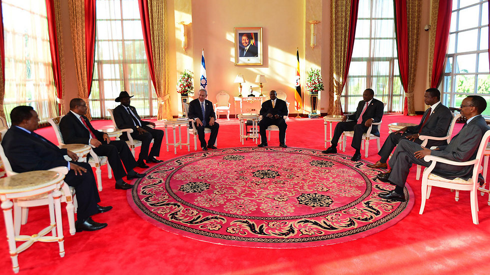 PM Netanyahu meets with the leaders of seven African nations (Photo: Kobi Gideon)