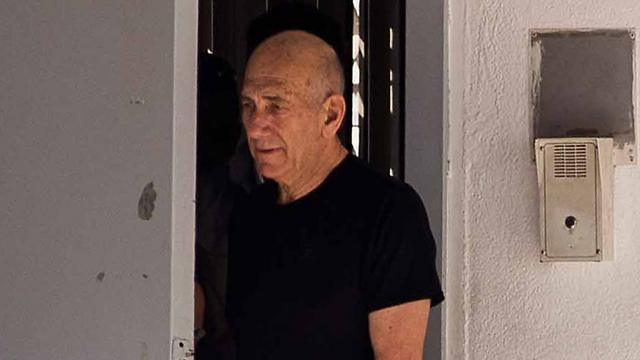 Convicted PM Ehud Olmert (Photo: Shahar Tal) (Photo: Tal Shahar)
