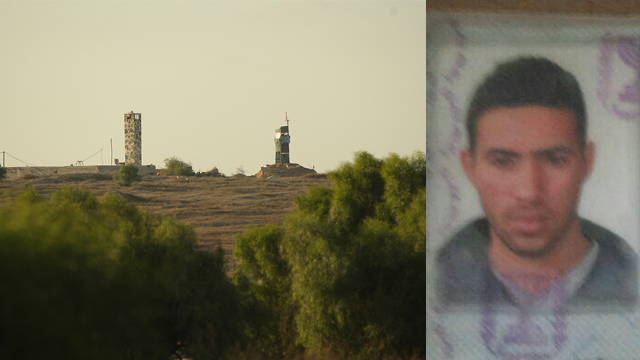 Jumaa Ibrahim Abu-Ghanima, right, and the area where he crossed the border (Photo: Roee Idan)