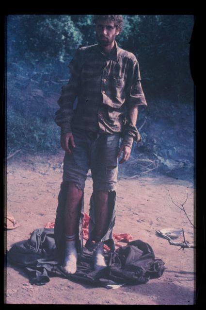יוסי גינסבורג - תמונה מיום החילוץ (צילום: קווין גייל)