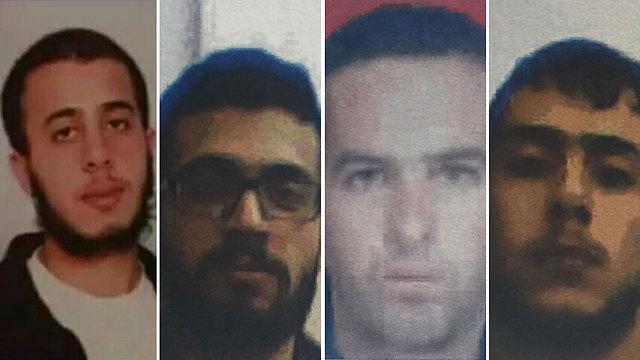 L-r: Mohammed Fakih, Muaz Fakih, Mohammed al-Amairah and Sahib Fakih (Photo: Shin Bet)