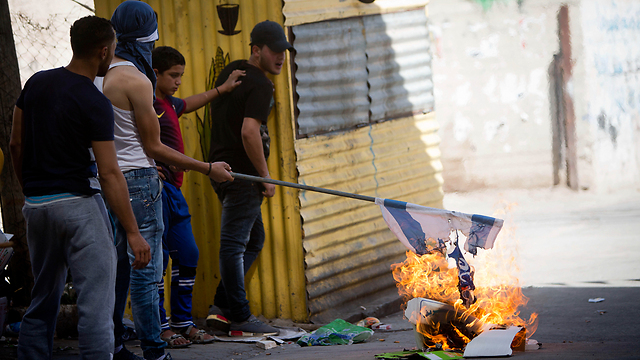 Clashes in Hebron (Photo: AP)
