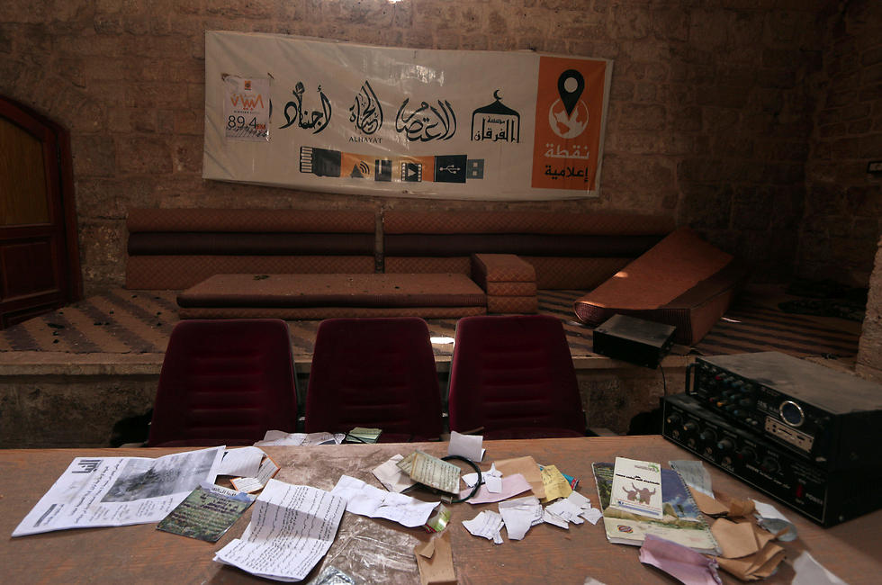 An abandoned ISIS war room (Photo: Reuters)