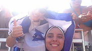 Egyptian beach volleyball player photographed with Israel flag