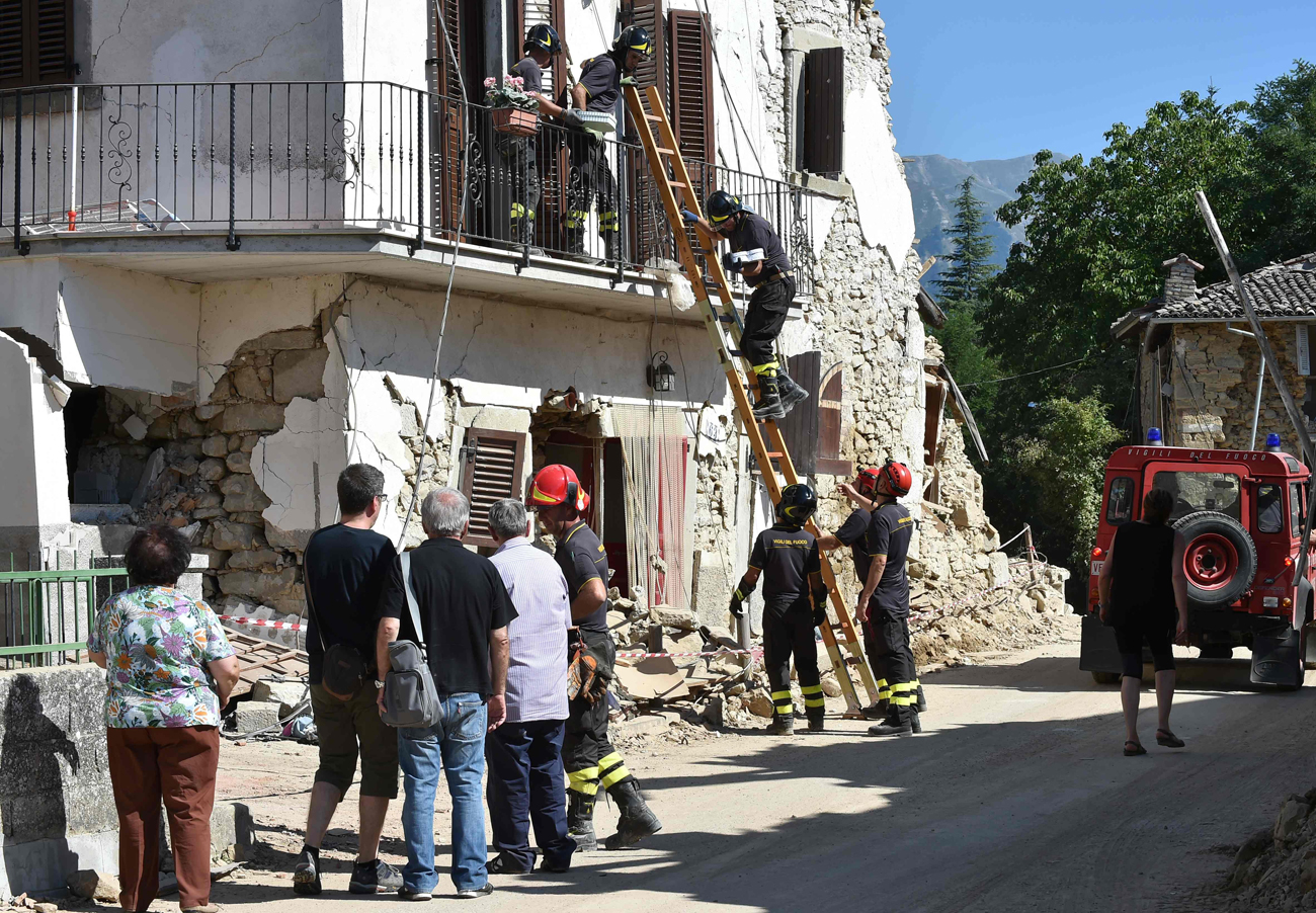 A building struck by the recent earthquake in Italy (Photo: AFP)