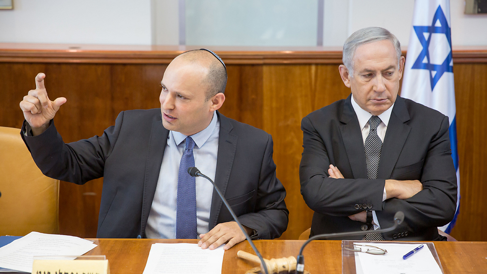 Naftali Bennett and PM Benjamin Netanyahu (Photo: Amil Salman)