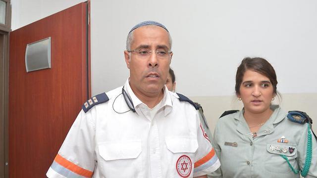 MDA paramedic Zahi Yahav (Photo: Motti Kimchi)