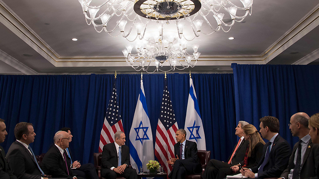 The Obama-Netanyahu New York meeting (Photo: AFP)