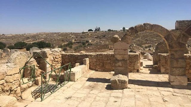 The Susya archaeological site (Photo: Katie Beiter/The Media Line)
