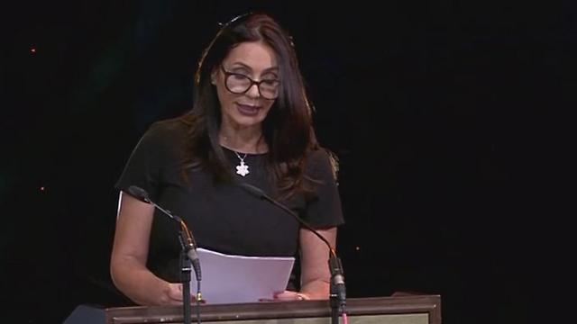 מירי רגב בעת נאומה בטקס