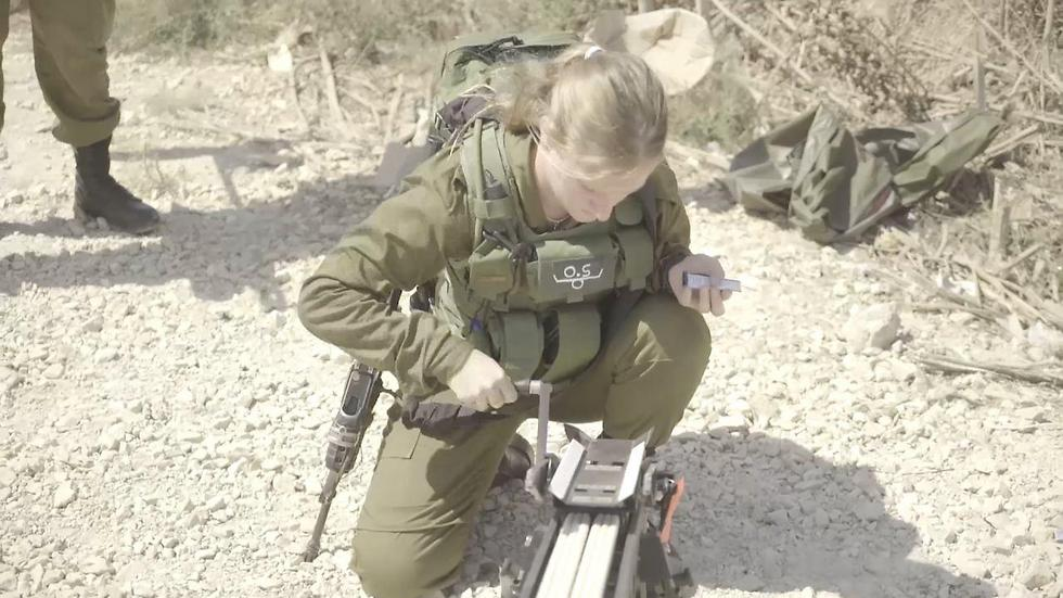 The small launcher (Photo: IDF Spokesman's Office)