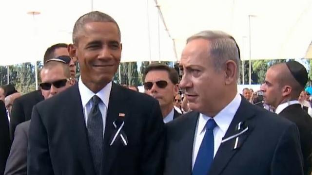 US President Obama and Prime Minister Netanyahu.