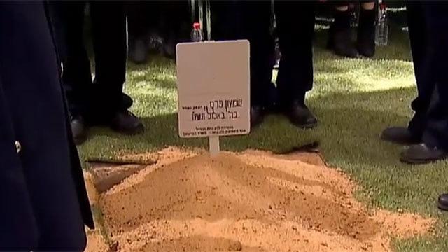 Peres's fresh grave.